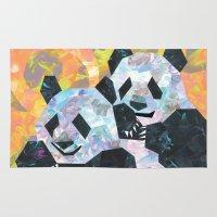 pandas Area & Throw Rugs featuring Pandas by DanielleArt&Design
