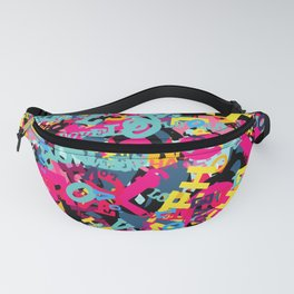 Love and Hate Typographic Pop Art Fanny Pack