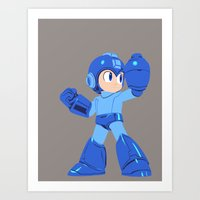 megaman Art Prints featuring Megaman by Megan Yiu