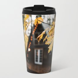 A-Frame Cabin in the Woods Travel Mug