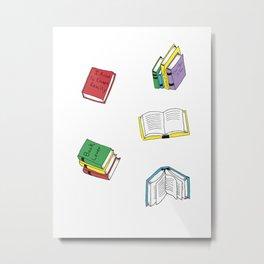 book pattern Metal Print