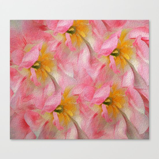 Fancy Painted Tulips Canvas Print