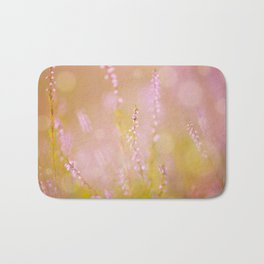 Subtle pink heather macro Bath Mat