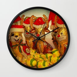 Goodbye Christmas Welcome Easter  Wall Clock