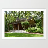 cabin Art Prints featuring Cabin by G.E. North