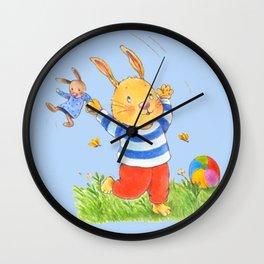 La joie d'un lapin heureux... Wall Clock