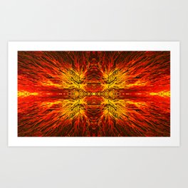 Electric Volcano Sunset by Chris Sparks Art Print
