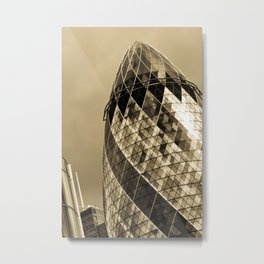 The Gherkin Metal Print