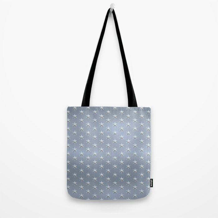 elegant silver star pattern Tote Bag