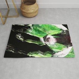Goat Pop Art - Green - Sharon Cummings Rug