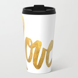 Love is Gold Travel Mug