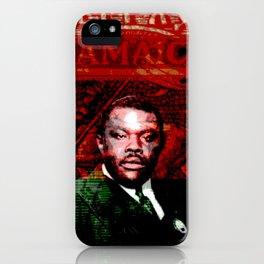 Marcus Garvey Black Nationalist Design Merchandise iPhone Case