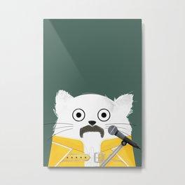 Cat Freddie Metal Print