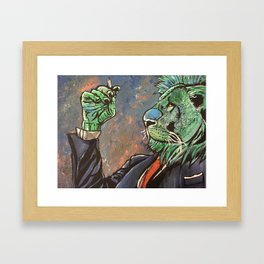 Business Lion Framed Art Print