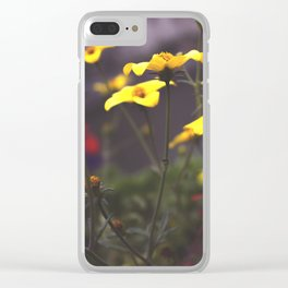 Nature - Wild Yellow Clear iPhone Case