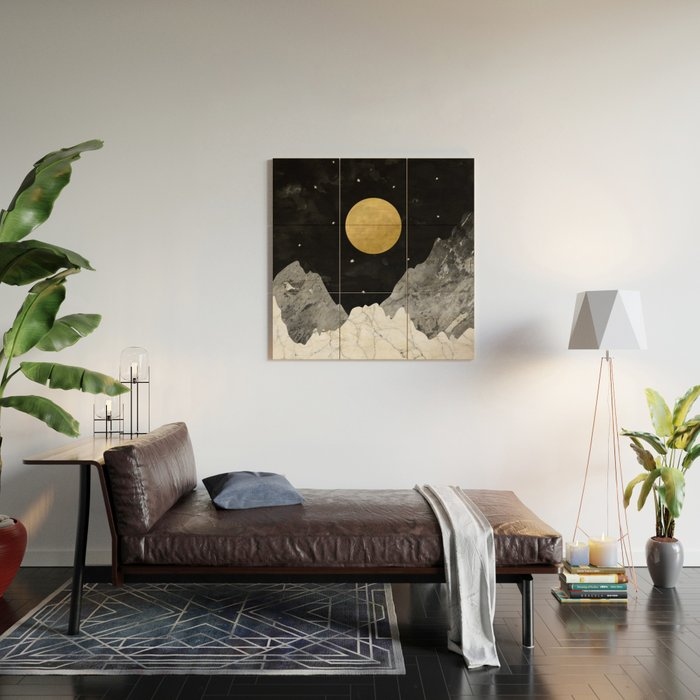 Moon and Stars Wood Wall Art