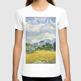 Wheatfield Wth Cypresses Van Gogh July 1989 T-shirt