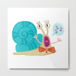 Cute Snail Metal Print
