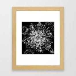 Spiky black and white Framed Art Print