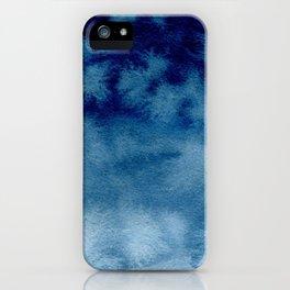 Blue Watercolor Wash iPhone Case
