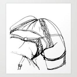 Suspenders  Art Print