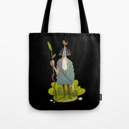 Woodsman (black background) Tote Bag