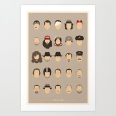 25 FACES OF TOM H Art Print