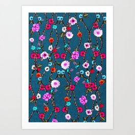 Spring Flowers Decò Art Print