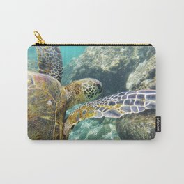Swimming Hawaii Honu Carry-All Pouch