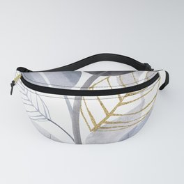 Leaf Party - Watercolor Nature Collage Fanny Pack