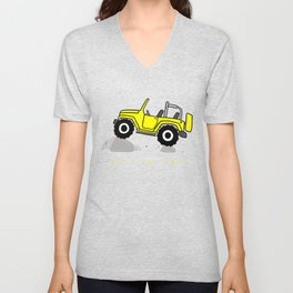 That's how I roll - Yellow Jeep Unisex V-Neck