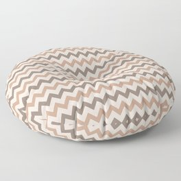 Brown Cream Chevron Horizontal Stripe Pattern 2021 Color of the Year Canyon Dusk & Accent Shades Floor Pillow