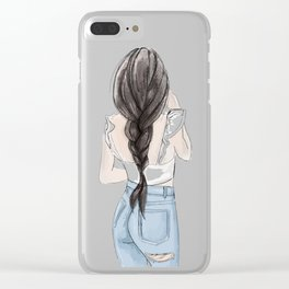 Ruffle top Clear iPhone Case