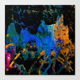 CRAZY PLAY OF COLORS-3 Canvas Print
