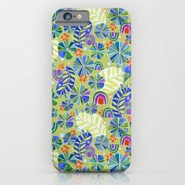 Nasturtiums and Rainbows iPhone Case