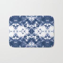 Shibori Tie Dye 4 Indigo Blue Bath Mat