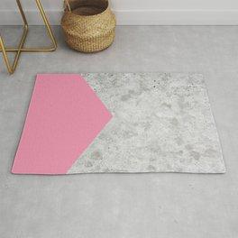 Geometric Concrete Arrow Design - Pink #329 Rug