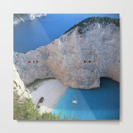 Shipwreck Beach - Navagio, Zakynthos, Greece Metal Print