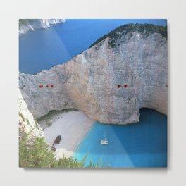 Shipwreck Beach - Navagio, Zakynthos, Greece Metal Print