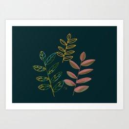 Three leaves of Hope Art Print