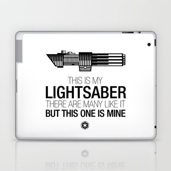 This is my Lightsaber (Vader Version) Laptop & iPad Skin