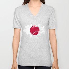 Japan Flag Shirt Unisex V-Neck