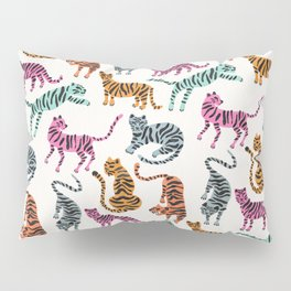Tiger Collection – Pink & Blue Palette Pillow Sham