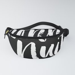 Bonne Nuit Bedroom Wall Art in Black and White Watercolor Fanny Pack