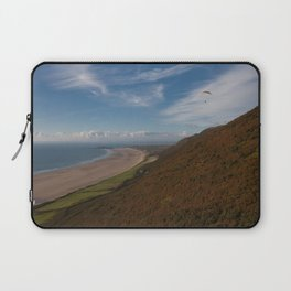 Paragliding at Rhossili Laptop Sleeve
