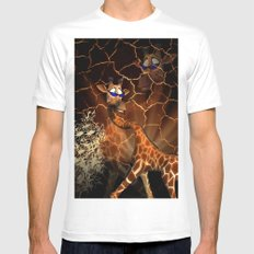 Funny, cool giraffe Mens Fitted Tee MEDIUM White