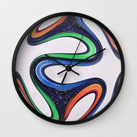 world cup Wall Clocks featuring World Cup 2014 by LCPCS