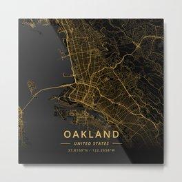 Oakland, United States - Gold Metal Print