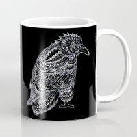 raven Mugs featuring Raven by BIOWORKZ