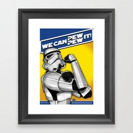 Stormtrooper: 'WE CAN PEW-PEW IT!' Framed Art Print
